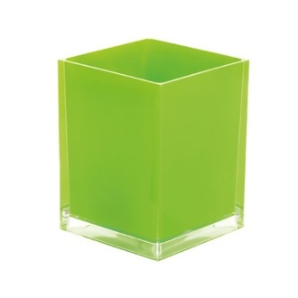 Waste Basket Free Standing Waste Basket With No Cover in Green Finish Gedy RA09-04