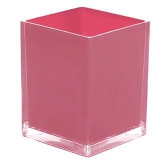 Waste Basket Free Standing Waste Basket With No Cover in Pink Finish Gedy RA09-76