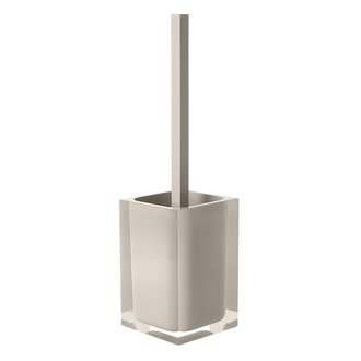 Toilet Brush Decorative Square Light Turtledove Toilet Brush Holder Gedy RA33-66