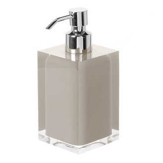 Soap Dispenser Square Light Turtledove Countertop Soap Dispenser Gedy RA81-66