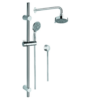 Shower System Chrome Shower Solution with Hand Shower with Sliding Rail, Showerhead, and Water Connection Gedy SUP1023