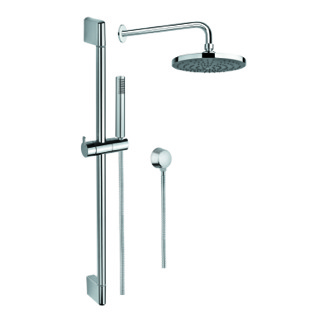 Shower System Chrome Shower System with Hand Shower, Sliding Rail, Showerhead, and Water Connection Gedy SUP1024