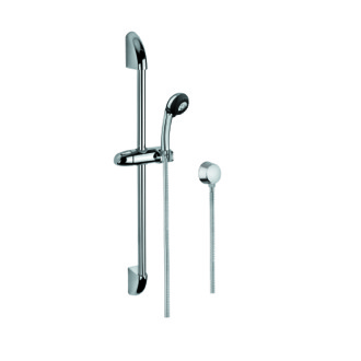 Handheld Showerhead Polished Chrome Shower System with Hand Shower and Sliding Rail and Water Connection Gedy SUP1042