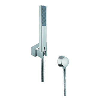 Handheld Showerhead Hand Shower, Shower Holder, and Water Connection In Chrome Finish Gedy SUP1085