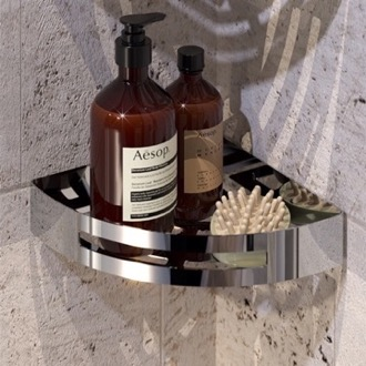 Shower Basket Chrome Corner Shower Basket Gedy 2479-13
