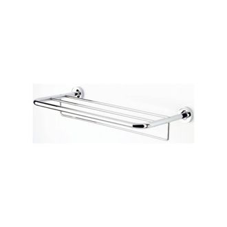 Train Rack 24 Inch Chrome Towel Rack or Towel Shelf with Towel Bar Geesa 5552