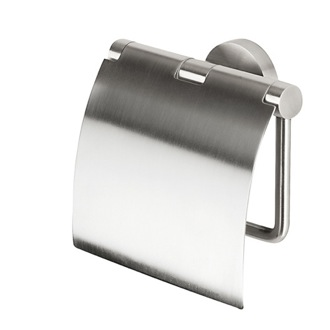 Toilet Paper Holder Satin Stainless Steel Toilet Roll Holder with Cover Geesa 6508-05