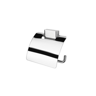 Toilet Paper Holder Polished Chrome Toilet Roll Holder with Cover Geesa 7008