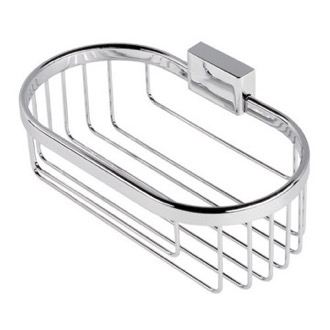 Shower Basket Chrome Wire Bottle or Sponge Holder/Basket Geesa 7014