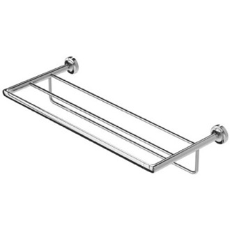 Train Rack Wall Mounted Chrome Brass Train Rack Geesa 7352-02