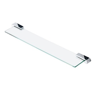 Bathroom Shelf Rectangle Wall Mounted Chrome Bathroom Shelf Geesa 4501-02
