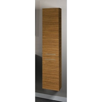 Storage Cabinet Tall Storage Cabinet in Teak Finish Iotti AB04