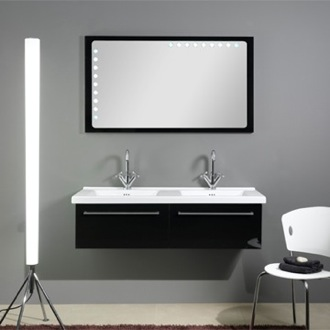 Bathroom Vanity 48 Inch Dual Bathroom Vanity Set Iotti FL5-Glossy Black