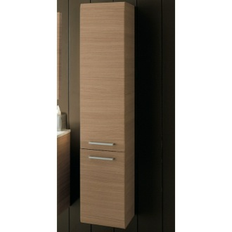 Storage Cabinet Natural Oak Tall Storage Cabinet Iotti AB05