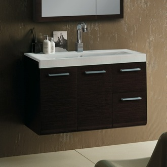 Bathroom Vanity 38 Inch Vanity Cabinet with Self Rimming Sink Iotti LE1C