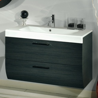 Bathroom Vanity 2 Drawers Vanity Cabinet with Self Rimming Sink Iotti NN2C