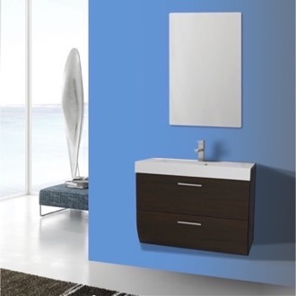 Bathroom Vanity 30 Inch Wall Mount Wenge Bathroom Vanity Set Iotti NN60