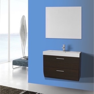 Bathroom Vanity 30 Inch Wall Mount Wenge Bathroom Vanity Set Iotti NN62