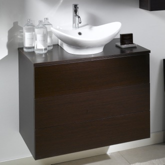 Bathroom Vanity 2 Drawers Vanity Cabinet with Vessel Sink Iotti NT9C