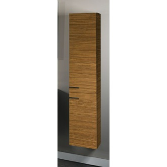 Storage Cabinet Tall Wall-Mounted Storage Cabinet With 2 Doors in Teak Finish Iotti SB03