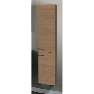 Storage Cabinet Tall 2 Door Storage Cabinet in Natural Oak Finish Iotti SB05