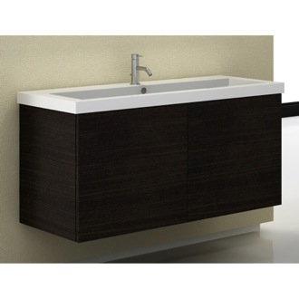 Bathroom Vanity 47 Inch Vanity Cabinet with Self Rimming Sink Iotti SE05C-Wenge
