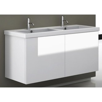 Bathroom Vanity 47 Inch Vanity Cabinet with Double Fitted Sink Iotti SE06C