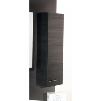 Storage Cabinet Small Storage Cabinet in Grey Oak Finish Iotti SP04