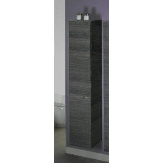 Storage Cabinet Grey Oak Tall Storage Cabinet Iotti TB03
