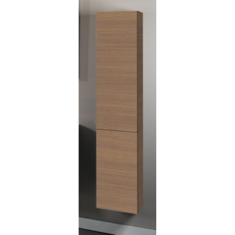 Storage Cabinet Natural Oak Tall Storage Cabinet Iotti TB04