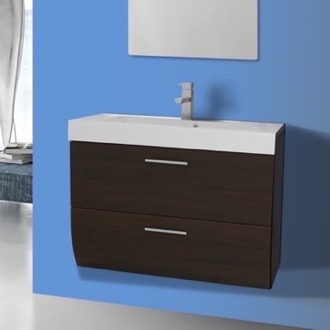 Bathroom Vanity 30 Inch Wall Mount Wenge Bathroom Vanity Cabinet with Sink Iotti WC03
