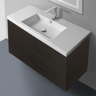Bathroom Vanity 39 Inch Vanity Cabinet with Self Rimming Sink Iotti SE04C