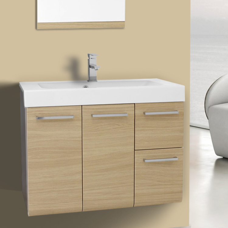 Bathroom Vanity 30 Inch Vanity Cabinet with Self Rimming Sink Iotti LE3C