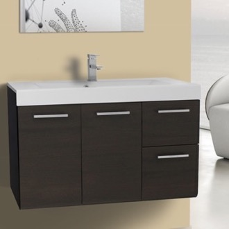 Bathroom Vanity 38 Inch Wall Mount Wenge Bathroom Vanity Set Iotti MC05