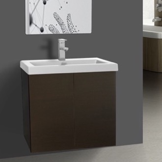 Bathroom Vanity Vanity Cabinet with Self Rimming Sink and 2 Doors Iotti SE01C-Wenge