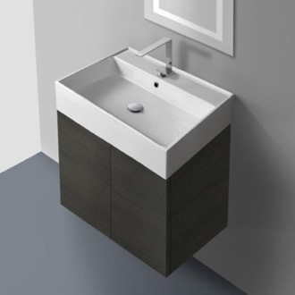 Bathroom Vanity 23 Inch Vanity Cabinet with Self Rimming Sink Iotti SM01C