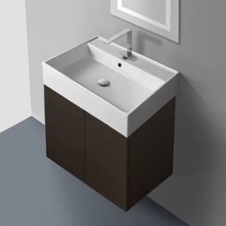 Bathroom Vanity 23 Inch Vanity Cabinet with Self Rimming Sink Iotti SM01C-Wenge