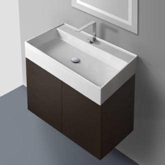 Bathroom Vanity 31 Inch Vanity Cabinet with Self Rimming Sink Iotti SM03C-Wenge