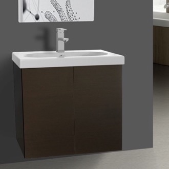 Bathroom Vanity Wenge 2 Doors Vanity Cabinet with Self Rimming Sink Iotti TR01C-Wenge