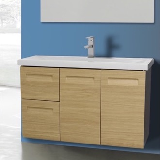 Bathroom Vanity 2 Doors, 2 Drawer Vanity Cabinet with Self Rimming Sink Iotti NG1C