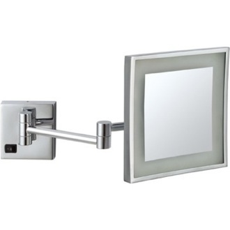 Makeup Mirror Square Wall Mounted LED Magnifying Mirror, Hardwired Nameeks AR7701