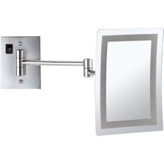 Makeup Mirror Wall Mounted Square Led 3x Hardwired Nameeks Ar7702