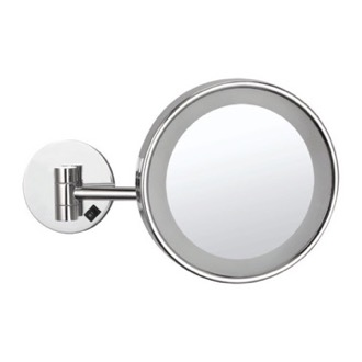 Makeup Mirror Wall Mounted Single Face 3x With Led Hardwired Nameeks Ar7704