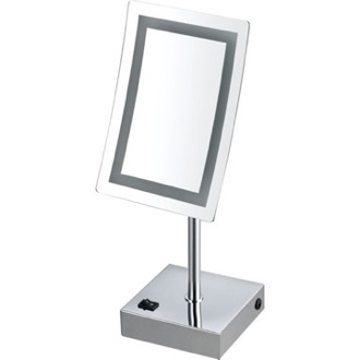 Makeup Mirror Single Face LED 3x Makeup Mirror Nameeks AR7715-CR-3x