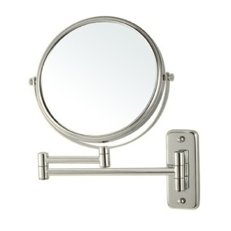 Makeup Mirror Satin Nickel Wall Mounted Double Sided 3x Shaving Mirror Nameeks AR7719-SNI-3x