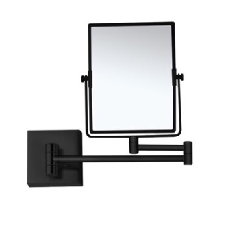 Makeup Mirror Matte Black Double Face 7x Wall Mounted Magnifying Mirror Nameeks AR7721-BLK-7x