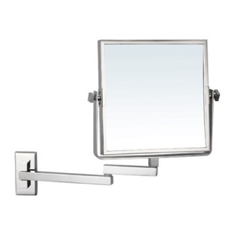 Makeup Mirror Square Wall Mounted Double Face 3x Shaving Mirror Nameeks AR7722