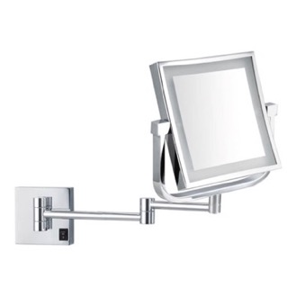 Makeup Mirror Double Face Square LED Magnifying Mirror, Hardwired Nameeks AR7730