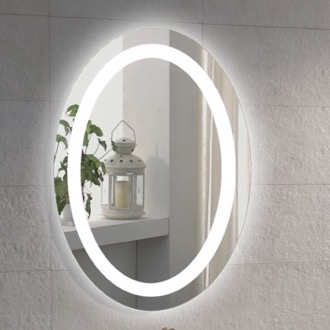 Vanity Mirror 20 x 28 Inch Illuminated Oval Vanity Mirror Nameeks ARROV