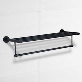 Train Rack 24 Inch Matte Black Towel Rack Nameeks NCB69